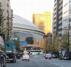 東京ドーム 壱岐坂からの風景