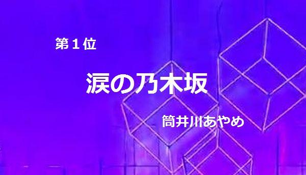 第1位『涙の乃木坂』筒井川あやめ タイトル